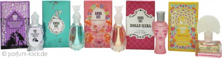 Anna Sui Miniature Geschenkset 4ml Dolly Girl EDT + 4ml Flight Of Fancy EDT + 4ml Fairy Dance Secret Wish EDT + 4ml Secret Wish EDT + 4ml Forbidden Affair EDT