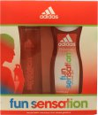 Adidas Fun Sensation Set de Regalo 75ml EDT Vaporizador + 250ml Gel de Ducha