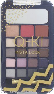Q-KI Insta Look Palette 16 x Eyeshadow + Highlighter + Blusher + Bronzer + Double Ended Applicator
