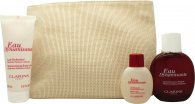 Clarins Eau Dynamisante Gift Set 100ml Eau Dynamiste EDT + 100ml Body Lotion + 50ml Shower Gel + Bag