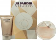 Jil Sander Sensations Gavesett 40ml EDT Spray + 50ml Cashmere Cream