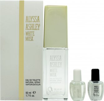 Alyssa Ashley White Musk Gift Set 50ml EDT + 5ml Musk Perfume Oil + 5ml White Musk Perfume Oil