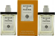 Acqua di Parma Colonia Assoluta Eau de Cologne Gift Set 2 x 1.0oz (30ml) Refill