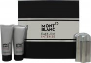 Mont Blanc Emblem Intense Set de regalo 100ml EDT + 100ml Bálsamo Aftershave + 100ml Gel de ducha