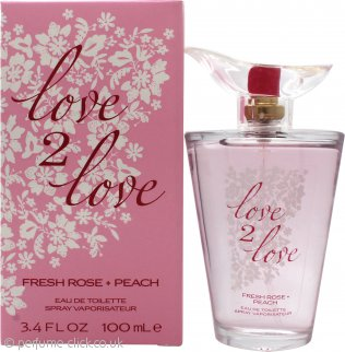 Love2Love Fresh Rose + Peach Eau de Toilette 100ml Spray