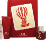 Carolina Herrera CH Gift Set 50ml EDT Spray + 100ml Body Lotion + 10ml EDT Spray