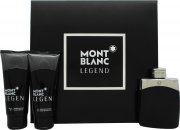 Mont Blanc Legend Gift Set 100ml EDT + 100ml Aftershave Balm + 100ml Shower Gel