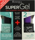 Rimmel Super Gel Gift Set 12ml Nail Polish in 051 Shallow Bay + 12ml Top Coat