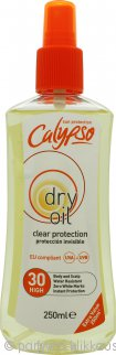 Calypso Clear Protection Dry Oil SPF30 250ml Spray