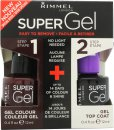 Rimmel Super Gel Gift Set 12ml Nail Polish in 043 Venus + 12ml Top Coat
