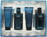 Davidoff Cool Water Set de Regalo 75ml EDT Spray + 75mlBálsamo Aftershave + 75ml Gel de Ducha + 75ml Loción Aftershave