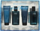 Davidoff Cool Water Gift Set 75ml EDT + 75ml Aftershave Balm + 75ml Shower Gel + 75ml Aftershave Lotion