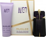 Thierry Mugler Alien Gift Set 60ml EDP Spray + 100ml Body Lotion