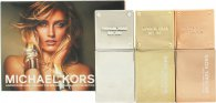 Michael Kors Gold Geschenkset 30ml 24k Brilliant Gold EDP + 30ml Rose Radiant Gold EDP + 30ml White Luminous Gold EDP