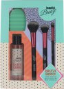 Sunkissed Beautiful Bronze Brush Cleansing Kit 3 x Brushes + 4.1oz (120ml) Brush Cleansing Gel + Brush Cleansing Pad