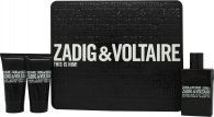 Zadig & Voltaire This is Him Set de Regalo 50ml EDT + 2 x 50ml Gel de Ducha