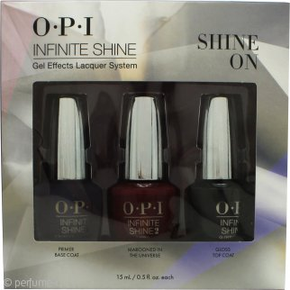 OPI Infinite Shine Set de regalo 15ml Primer Base Coat + 15ml Marooned In The Universe + 15ml Gloss Top Coat
