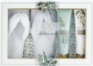 Style & Grace Spa Botanique Flip Flop Slipper Set 200ml Body Wash + 200ml Body Lotion + Slippers