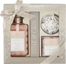 Style & Grace Utopia Bathroom Treats Gift Set 500ml Bath Cream + 16g Rose Shaped Confetti + Shower Flower