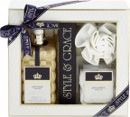 Style & Grace Signature Luxury Retreat Gift Set 500ml Bath Cream + 12g Bath Confetti + Shower Flower