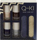 Q-KI Mani-Care Gift Set 4 x 8ml Nail Polish + 2 x Nail File