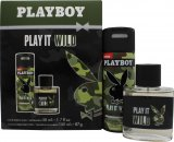 Playboy Play It Wild for Him Gift Set 50ml EDT + 150ml Deodorant Spray
