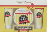 Perfect Pamper Warm Vanilla Set de Regalo 100ml Hidratante Corporal + 220ml Crema Corporal + 100ml Gel Corporal