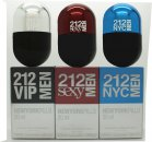 Carolina Herrera 212 Men New York Pills Gift Set 20ml 212 VIP Men EDT + 20ml 212 Sexy Men EDT + 20ml 212 Men NYC EDT