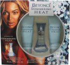 Beyoncé Shimmering Heat Gift Set 30ml EDP + 75ml Body Lotion + 75ml Shower Gel