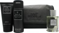 David Beckham Instinct Gift Set 50ml Aftershave + 150ml Shower Gel + 150ml Deodorant Spray + Wash Bag