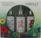 Yardley Moisturising Fragrance Mist Geschenkset 3 x 100ml - English Bluebell + English Rose + English Dahlia