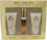 Elizabeth Taylor White Diamonds Gift Set 15ml EDT + 50ml Body Lotion + 50ml Shower Gel