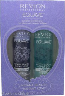 Revlon Equave Blonde Detangling Duo Gift Set 250ml Shampoo + 200ml Conditioner