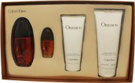 Calvin Klein Obsession Femme Gift Set 100ml EDP + 15ml EDP + 200ml Lotion + 100ml Shower Gel