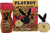 Playboy Play It Wild for Her Confezione Regalo 60ml + 250ml Gel Doccia