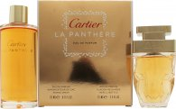 Cartier La Panthere Gift Set 25ml EDP Refillable + 75ml EDP Refill