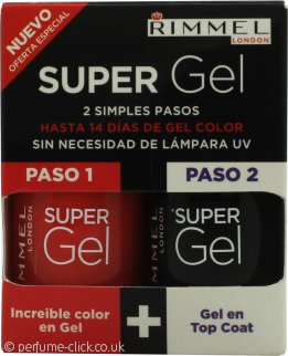 Rimmel Super Gel Gift Set 12ml Nail Polish 12ml Happily Evie + 12ml Top Coat