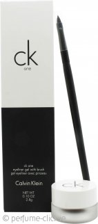 Calvin Klein CK One Cosmetics Set Brush + 2.8g Eyeliner Gel in Double Expresso