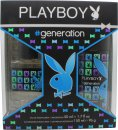 Playboy Generation For Him Gift Set 50ml EDT + 150ml Body Spray