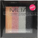 MUA Metallic Lidschatten Quad - Glammed Up