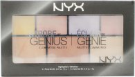 NYX 7-Color Eyeshadow Palette Professional Makeup Strobe of Genius Illuminating Palette 20g